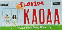 florida drug free specialty plate