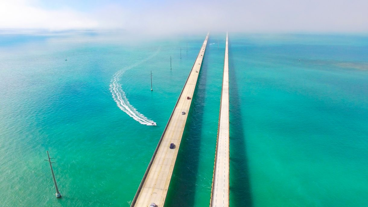 Seven Miles bridge. Florida Keys