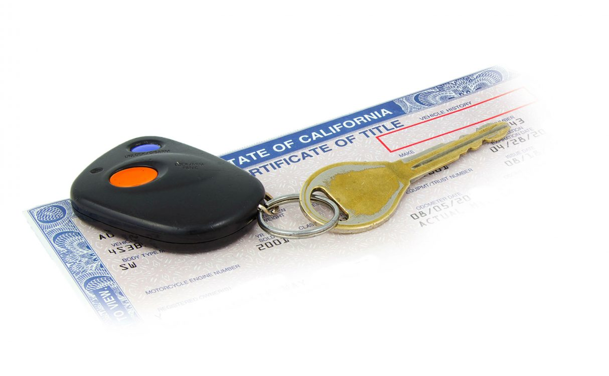 How can i get a motorcyle registered, if the current owner does not have the title?