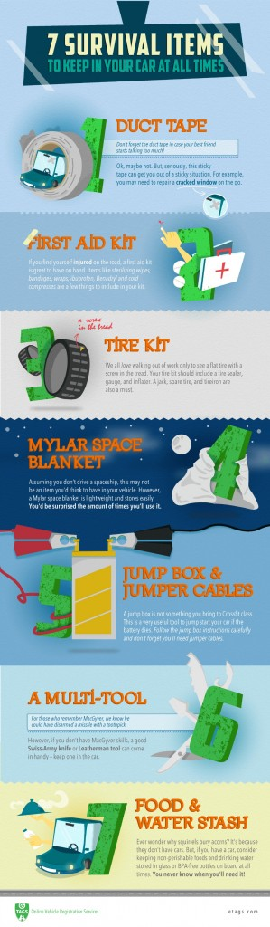 Driving Survival Kit Checklist