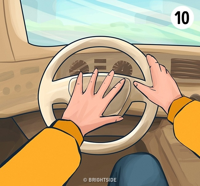 How to Hold the Steering Wheel