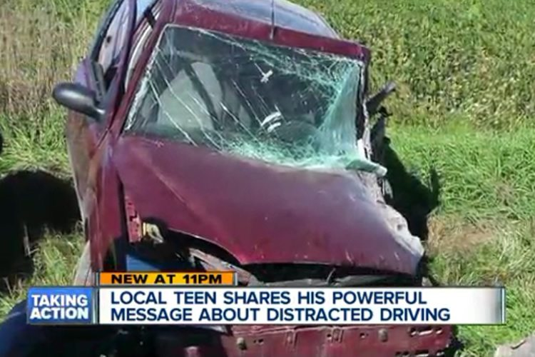 Why is texting and driving a problem for teens?