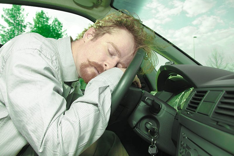 sleeping while driving