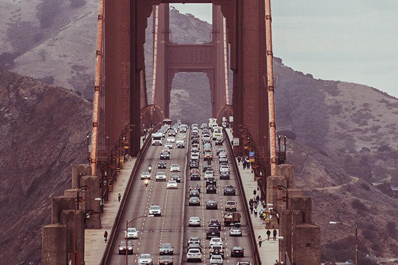 driving in california